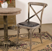 RCH-4001-40 Vintage french style solid wooden cross back chair