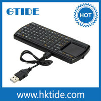 rechargeable backlit mini bluetooth keyboard with touchpad for ipad/iphone