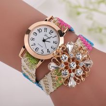 woman watch woven diamond pearl female models fashion table decoration Geneva Ladies quartz bracelet watch