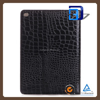 Best Quality Crocodile pattern Texture Pattern Stnad Cover PU Leather Cover case For iPad pro tablet case lowest price