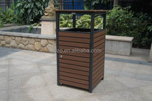 Top Selling Outdoor Wide Plastic Wood Garden Dustbin