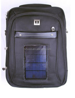 solar backpack high quality durable waterproof solar laptop backpack