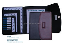 leather office bags A4 file and folders with pen