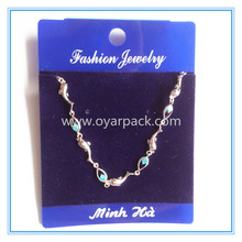 fashion chain bracelet jewelry package card