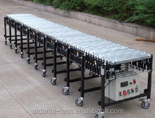 Retractable electric single roller conveyor