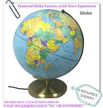 CE Approved Illuminated Plastic World Globe Items