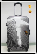 modern building photo print ABS/PC hardside luggage/ Travel Trolley Luggage