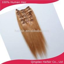 Color 16/24 estilo de piano clip en extensiones de cabello, chino productos para el cabello humano