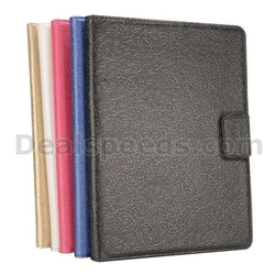 Embossed Flowers Design Magnetic Foldable Folio Stand Leather Cases for iPad Mini 2 Retina for iPad Mini