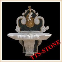 Angel Carving White Stone Luxury Wash Basins