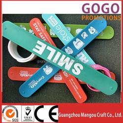 china professional sale cheap make silicone rubber slap snap bracelet, Wholesale Custom Printed Wide Silicone Snap Bracelets