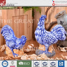 Fashion hand painted ceramic rooster garden decor