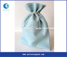 custom light blue linen jewelry pouch
