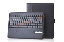 For iPad 2 /3/ 4 Bluetooth 3.0 ABS sleek keyboard snad good quality PU leather folio Case ebour011