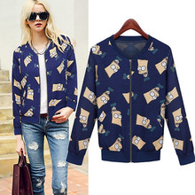 Fashion New printing Simpson leisure small coats