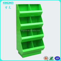 Acrylic advertising snacks display stand for promotion,green acrylic display stand