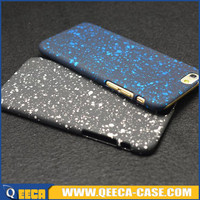 New style 3D starry sky rubberized PC hard back case for iphone 6
