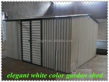 elegant white color garden shed/large size metal garden shed