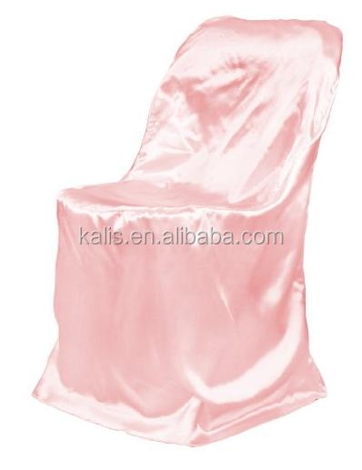 Folding Chair Plain Dyed China Wholesale Satin Wedding Used Disposable Foldin
