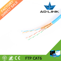 Guangzhou Yuelin pass Fluke test 4 twister pair 8 core FTP cat 6 Ethernet network cable