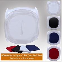 NEW Photo Studio soft box Shooting Tent Softbox Cube Box 40 x 40x40cm/photo light tent+portable bag+ 4 Backdrops