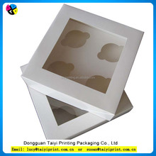 Hot sale 4 packs cupcake paper box with window