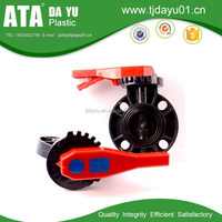 china factory pvc pipe fittings lever operated wafer type manual butterfly valve for sea water