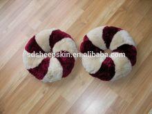 Genuino eco- ambiente de patchwork de piel de oveja hemorroide esteras/alfombrillas