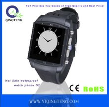 waterproof mobile watch phone with Mp3/camera/multi-languages/audio recording