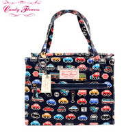 2015 New Arrival Hot Sell Brand Fashion Ladies Floral Pattern Shopping Bag