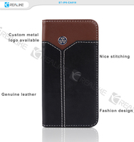 Nice stitching genuine leather mobile phone case for iphone 6s