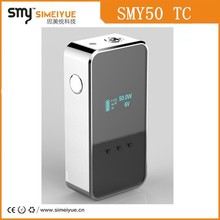 2015 Smy50TC E-cig mod shipped via DHL vaporizer mod with venting hoes and handle feeling button vapor pen like SMY35 mini mod