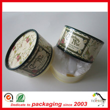 customized printing eco friendly new design round paper powder box manufacturer