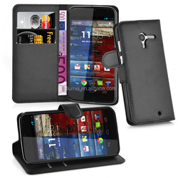 For Motorola moto X Lichee Patern PU Leather Wallet Cell Phone Case With Stand Cover