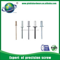 Widely used aluminium and stainless steel pop rivets sizes