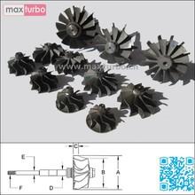 TB25 / GT2556V Shaft Wheel 454191-0001/454191-1/454191-0002/454191-2/454191-0003/454191-3 Turbine Shaft and Wheel Assembly
