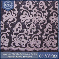 Latest new design embroidery grey beaded mesh lace fabric / high quality french lace for aso ebi