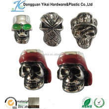 Dongguan YiKai metal alloy akull ,metal Chrome skulls,sterling silver skull beads