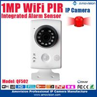 2015 NEW !!! QF502 Remote control mini digital clock hidden camera HD 720p motion detection audio alarm 720P Wifi IP Camera