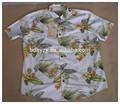 hombres camisa hawaiana de manga corta