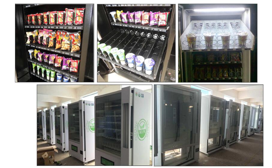 Máquina de Vending com validadores acceptor e coin mechs