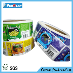 Waterproof Feature and paper/PP/PET/vinyl Material waterproof e-liquid clear label