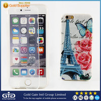 Flip Transparent TPU Cover With Painting Design for iPhone 6