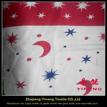 cheap 100% polyester printed american flag fabric