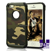 China Low Price 2 IN 1 Armor Army Camouflage Hybrid Back Cover Case For iPhone 5s Mobile Phones