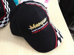 Brushed cotton letters embroidered baseball cap Outdoor Racing / game cap hat