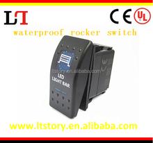 Car LED light waterproof rocker switch