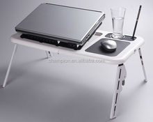Adjustable plastic adjustable adjustable laptop table on bed E-table LD09