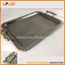 Beautiful Design Stainless Steel Serving Tray/ Plate /Food Container