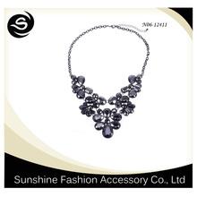 Fashion crystal necklace shourouk jewelry wholesale fashion jewelry in China